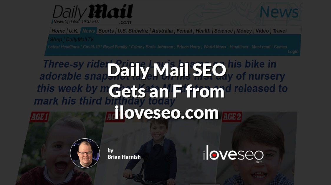 Daily Mail SEO Gets an F from iloveseo.com